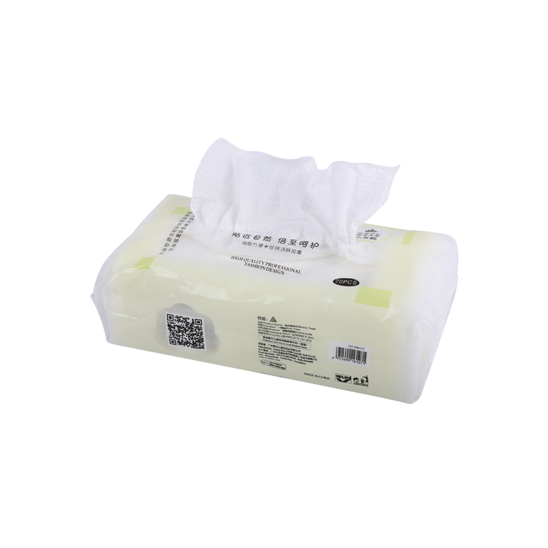 Skin-friendly cotton wipes disposable face towel wet and dry can be customized