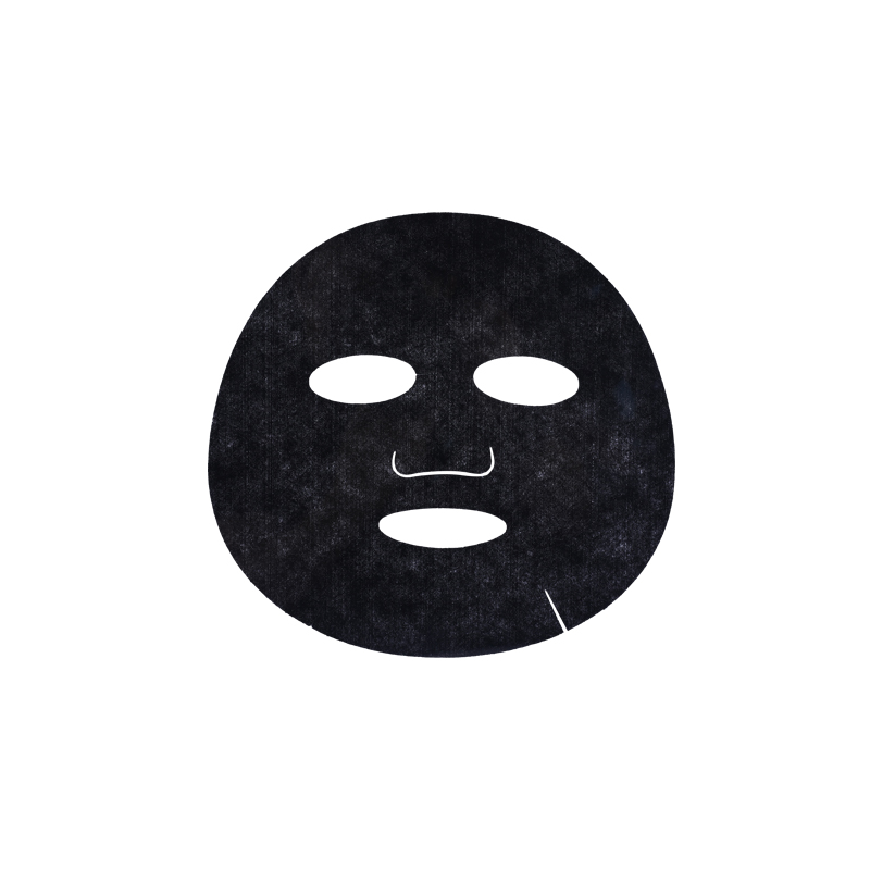 Black non-woven bamboo charcoal mask paper DIY disposable mask sticker film beauty salon supplies