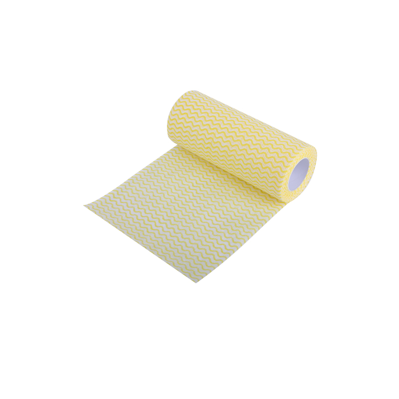 Yellow wave pattern spunlace non-woven cloth