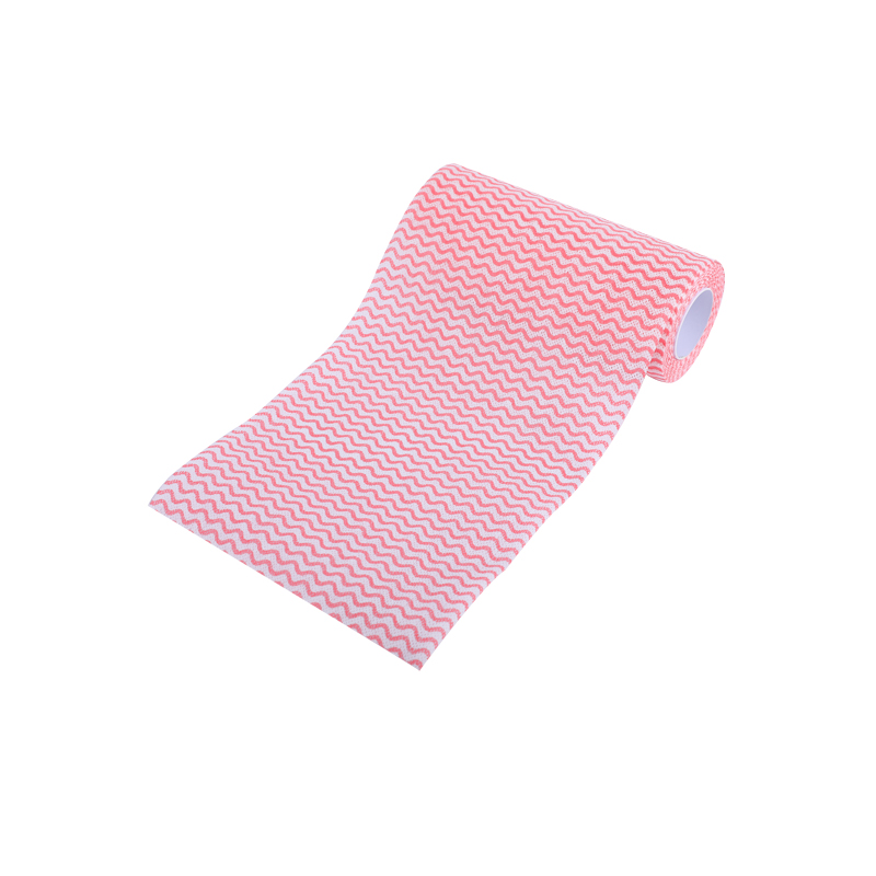 Custom wholesale disposable scouring pad kitchen dishwashing cleaning rag wave pattern strong water absorption to grease
