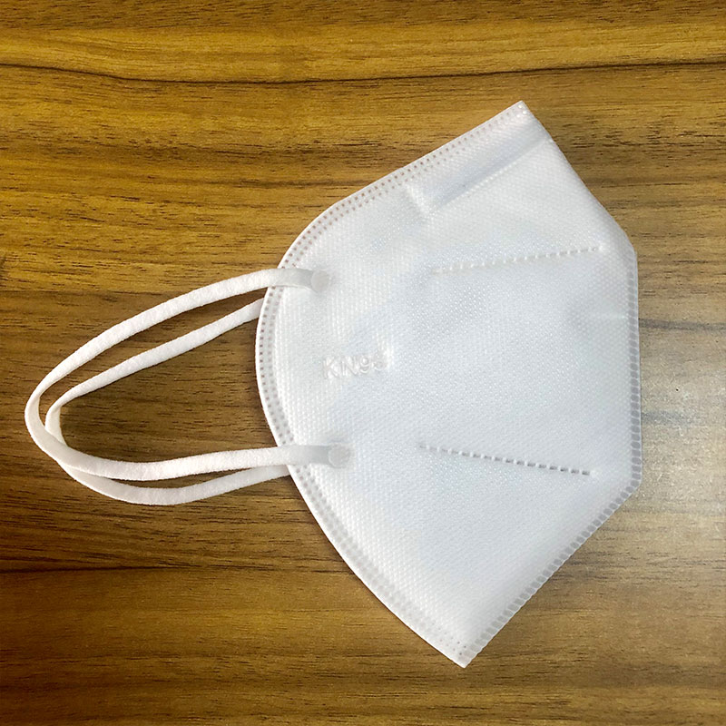 Five-layer KN95 protective mask with non-medical ear straps and built-in nose bridge